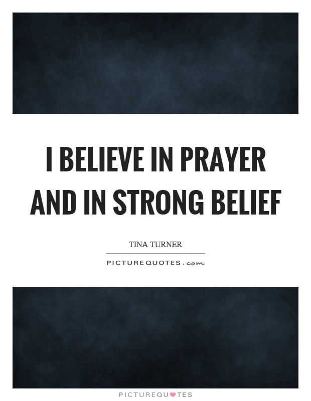 Believe With A Strong Belief