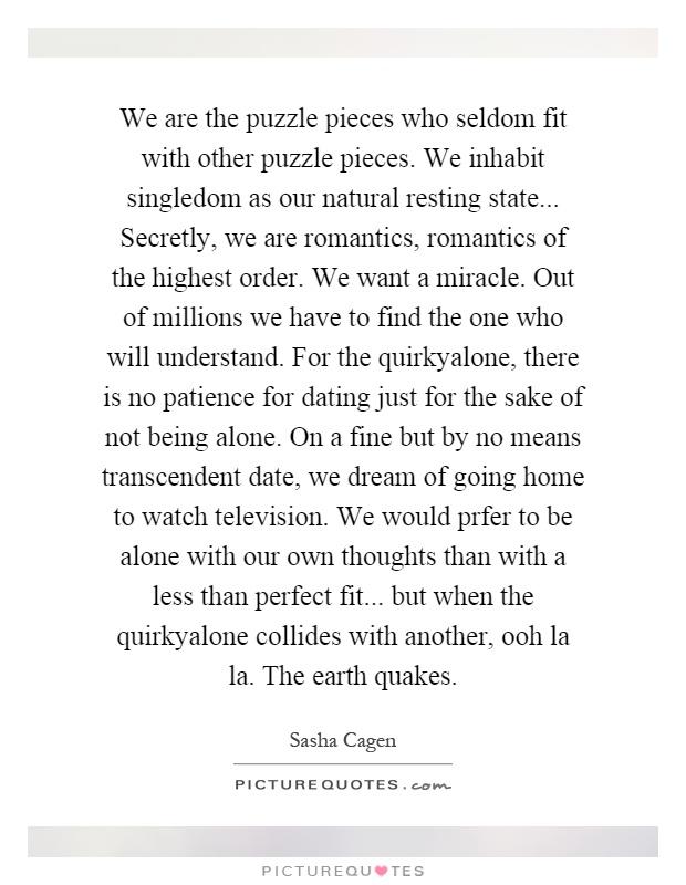 Lyric puzzle pieces lyrics : Sasha Cagen Quotes & Sayings (5 Quotations)