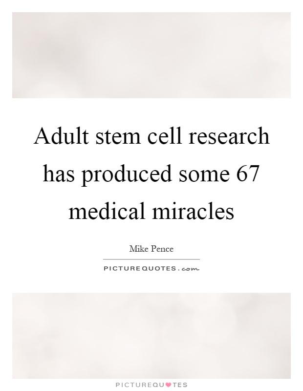 adult stem cell success