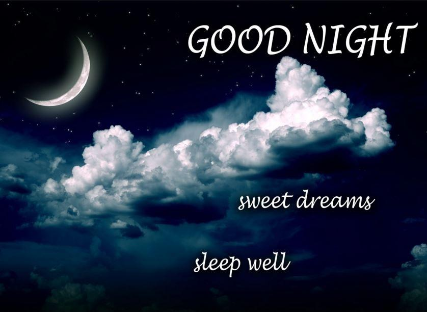 Good night. Sweet dreams. Sleep well | Picture Quotes